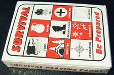 Survival Playing Cards Wilderness Guide Gear Prepper Outdoor Manual Kit Pocket