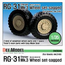 Def.model, nos Rg-31 Mk.3 sagged Juego de ruedas (para Kinetic 1/35), dw35045