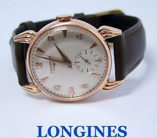 Vintage 14k Rose LONGINES Mens Winding Watch c.1950s Cal 23M* EXLNT* SERVICED