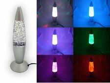 USB Night Lamp Color Changing Rocket Lava LED Home Decorate Glitter Light GiftSK