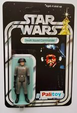 PALITOY 1977 VINTAGE DEATH SQUAD COMMANDER  ON STAR WARS 12 BACK A NEW HOPE CARD