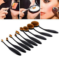 10x Profi Foundation Oval Pinsel Puderpinsel Kosmetik Brush Make Up Zahnbürste