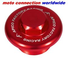 APICO RED ANODISED ALLOY OIL PLUG FILLER CAP HONDA CRF250 CRF450 2002 - 2017