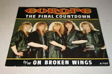 EUROPE The Final Countdown / On broken wings Ex Epic 1986 UK P/S 7""