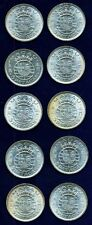 MACAU / MACAO (CHINA) 1971 5 PATACAS, MOSTLY BU SILVER COINS, LOT OF 10