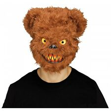 Scary Teddy Bear Mask Adult Evil Psycho Halloween Costume Fancy Dress