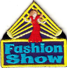 """FASHION SHOW"" - Iron On Embroidered Patch/ Girly, Fun, Fashion, Show"
