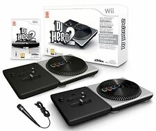 Wii DJ HERO 2 Turntable Party Bundle Game Set + Microphone kit Nintendo deadmaus
