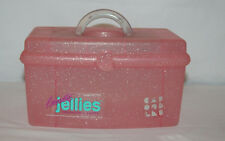 Vintage Caboodles 2720 JELLIES Pink Glitter Make Up Case-Tray & Mirror