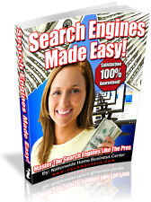 SEARCH ENGINES MADE EASY! PDF EBOOK FREE SHIPPING RESALE RIGHTS