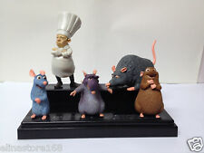 RARE Disney Ratatouille Emile Remy Django Skinner MousFigures Set 5 Pcs