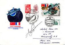 Sojus T 6 Space Cover Signed Vladimir Dzhanibekov Russian pilot cosmonaut.
