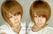 cosplay Death Note Yagami Light Blond Brown short wig