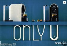 Publicité Advertising 2012 (2 pages) Machine à café cafetière Nespresso
