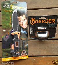 Gerber Bear Grylls Ultimate Survival Pro Super Knife & Myth Headlamp