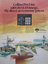 3/1980 PUB ROCKWELL COLLINS PRO LINE LRN-70 VLF/OMEGA NAVIGATION SYSTEM AD