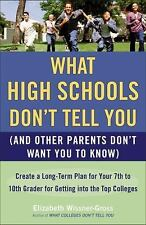 NEW What High Schools Don't Tell You (and Other Parents Don't Want You to Know):