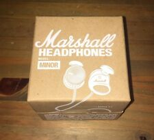 Headphones Marshall Minor White In-Ear Wired Microphone Remote Bass 3.5mm NEW