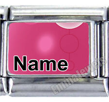 Unique Pink Design Custom Any Name 9mm Italian Photo Charm NEW