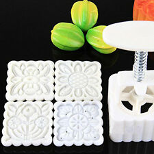 Chinese Flowers Pattern Mooncake Mold Set Fondant Candy Pineapple Cake Mould