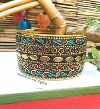 BEAUTIFUL BOHEMIAN GYPSY CUFF BRACELET GYPSY HIPPIE BOHO BANGLE FESTIVAL RING
