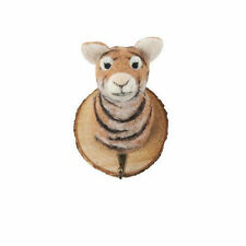 Felt Trophy Tiger Head Coat Hook Hanger on wood, novelty animal gift Felt012