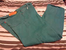 Levi's 501 XX Men's Button Fly Turquoise Jeans 38X30