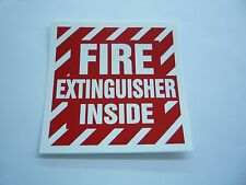 "FIRE EXTINGUISHER INSIDE DECAL 4"" X 4"" SCREEN PRINTED DOUBLE GLUE"