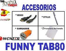 ACCESORIOS PARA TABLET WOXTER FUNNY TAB80 TAB 80 HDMI + CARGADOR + 2 PROTECTORES