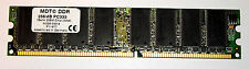 Memoria MDT DDR 256MB PC333 RAM PC2700U M256-333-8 P12770 non ECC 1 bank SDRAM