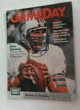 Vintage 1984 STEELERS Vs DOLPHINS  Program Three Rivers Stadium DAN MARINO Cover