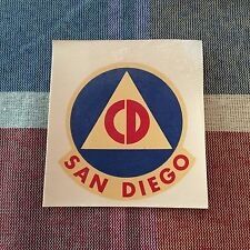 4 - Civil Defense decals from San Diego -  waterslide stickers