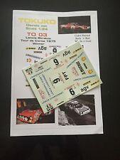 DECALS 1/24 LANCIA STRATOS DARNICHE RALLYE TOUR DE CORSE 1975 WRC RALLY GITANES