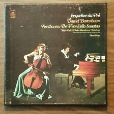 JACQUELINE DU PRE CELLO - BEETHOVEN: THE FIVE SONATAS Vinyl 3 Record LP Set