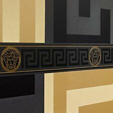 VERSACE GREEK KEY WALLPAPER BORDERS - BLACK 935224 NEW