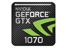 "nVidia GeForce GTX 1070 1""x1"" Chrome Domed Case Badge / Sticker Logo"