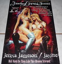JANINE Loves JENNA Jameson Rare Variant Poster! MINT!