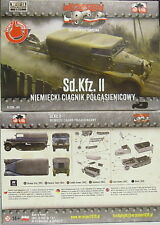 Leichter Zugkraftwagen 3t Sd.Kfz.11 , First To Fight,1/72, Plastik ,NEU,