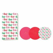KATE SPADE - Holiday Coaster and Napkin Set - Fa La La La - Great Hostess Gift!
