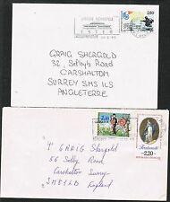 France 1985/1994. 2 covers to UK. Valentine's Day/Fraternity/Allied Landings.