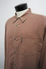 Columbia red casual button down dress shirt sz LT -Tall mens L/S#270