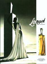 Publicité ancienne Parfum Léonard Paris non parfumé