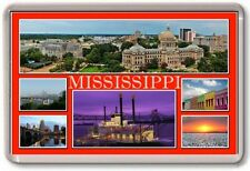 FRIDGE MAGNET - MISSISSIPPI - Large - USA America TOURIST