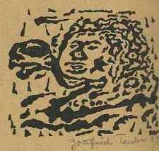 SPRÜCHE der BIBEL - 4 Orig.Linolschnitte v.Gottfried TEUBER 1995 Handsigniert