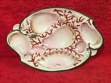 Antique Porcelain Oyster & Shellfish Plate c1800's, op319