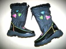 NEW Baby Girls Totes Snow Winter Boots Size 5 (Says 6 but runs Small) Hearts $44
