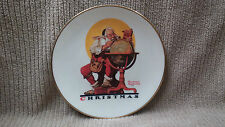 """NORMAN ROCKWELL 1978 """"PLANNING CHRISTMAS VISITS"""" CHRISTMAS PLATE Free Shipping!!"""