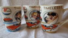 Tasse Becher Kaffee Tee 300 ml Motiv Zeitlos Timeless Classic Oldtimer 3er Set