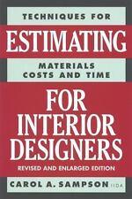 Estimating for Interior Designers, Carol Sampson, Good Book