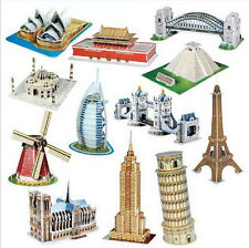 New Kids Toy 3D Puzzle Jigsaw Paper Mini World Famous Architecture Model